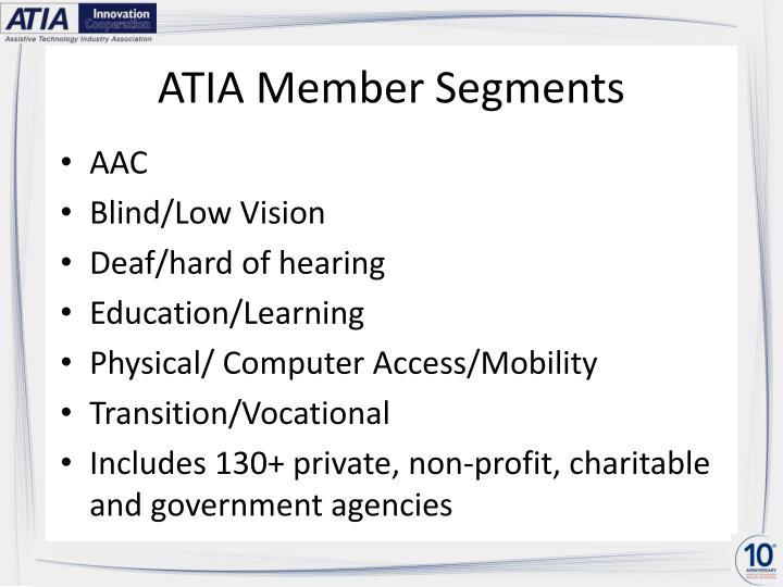 Atia member segments