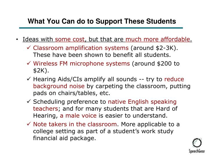 What You Can do to Support These Students