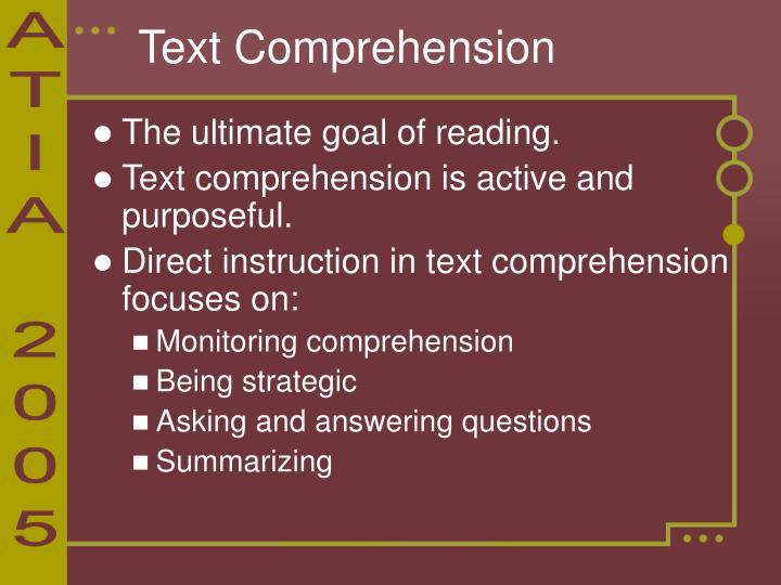 Text Comprehension