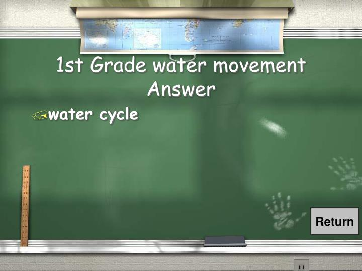 1st Grade water movement Answer