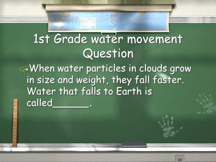 1st Grade water movement Question