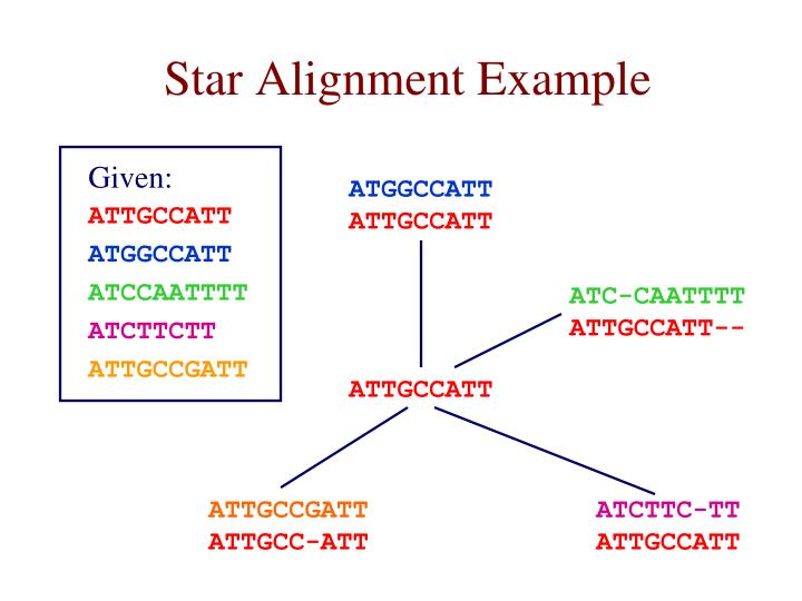Star Alignment Example