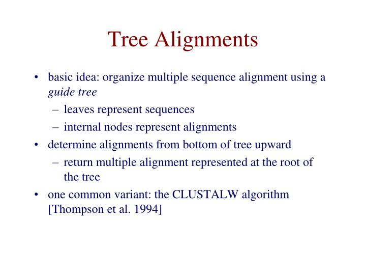 Tree Alignments