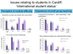 issues relating to students in cardiff international student status