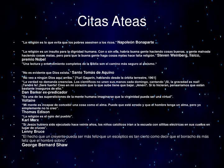 Citas Ateas