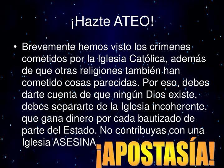 ¡Hazte ATEO!