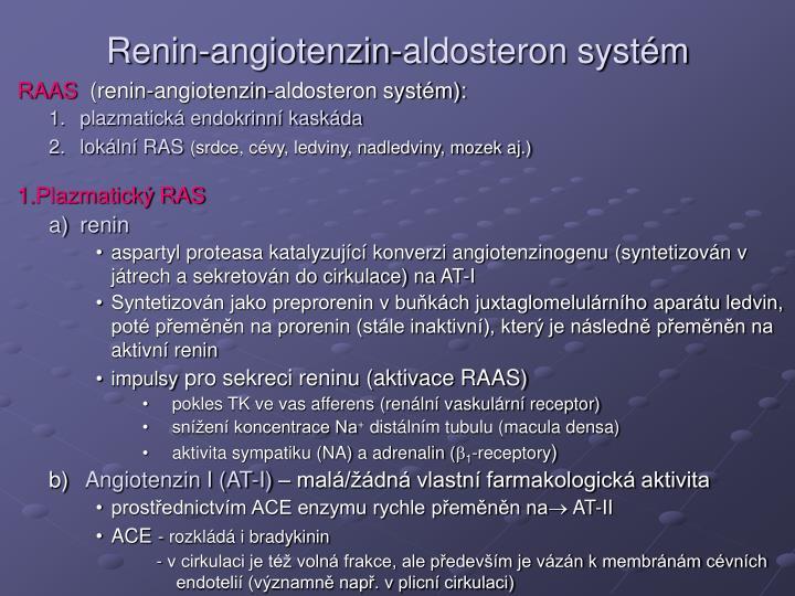 Renin-angiotenzin-aldosteron systém
