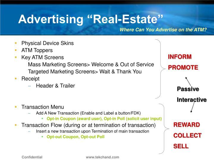 """Advertising """"Real-Estate"""""""