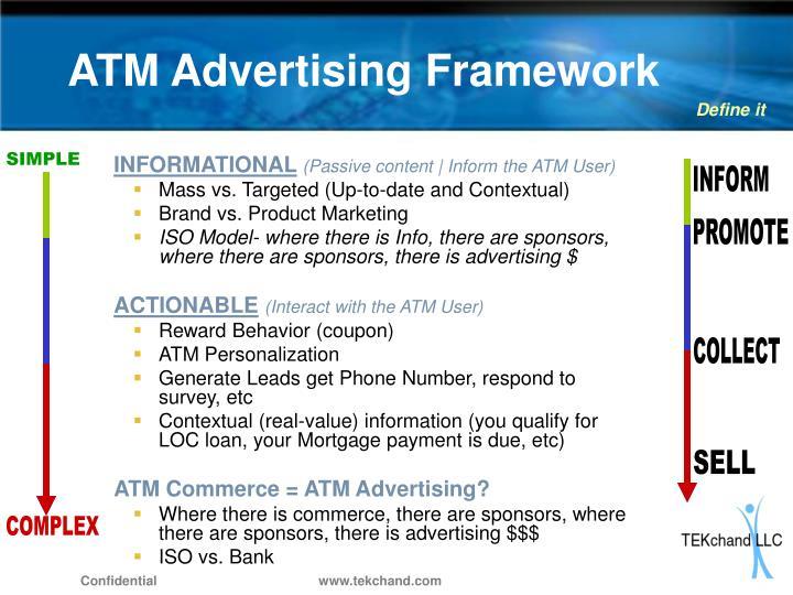 ATM Advertising Framework