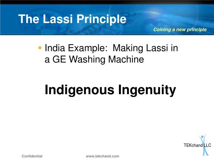 The lassi principle