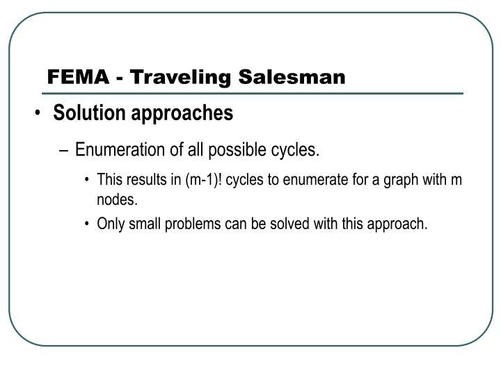 FEMA - Traveling Salesman