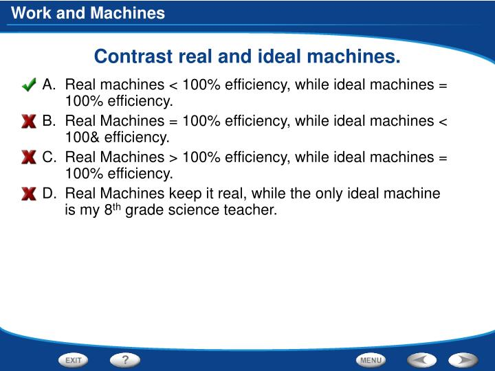 Contrast real and ideal machines.
