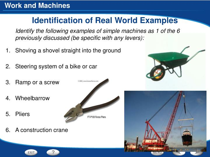 Identification of Real World Examples