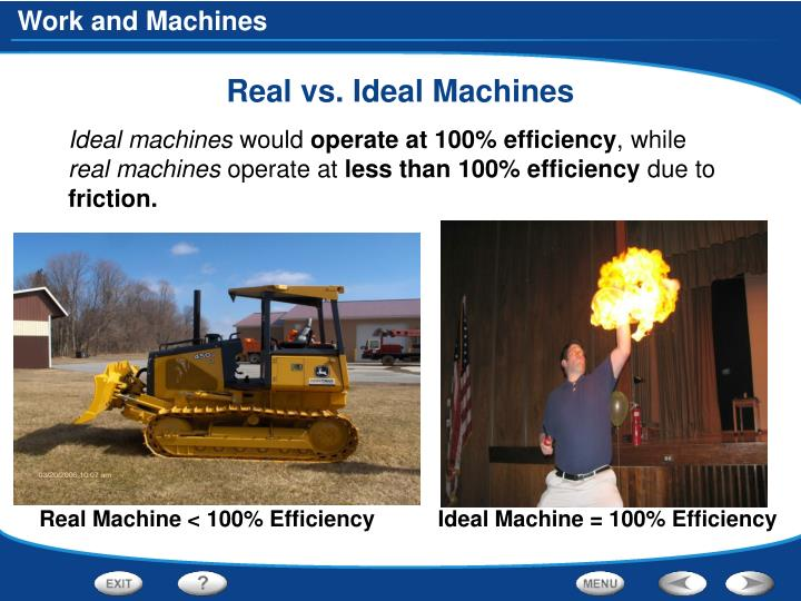 Real vs. Ideal Machines