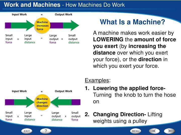 - How Machines Do Work