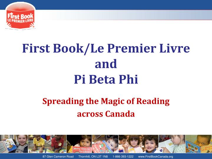 First book le premier livre and pi beta phi