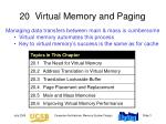 20 virtual memory and paging