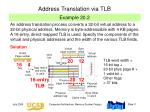 address translation via tlb