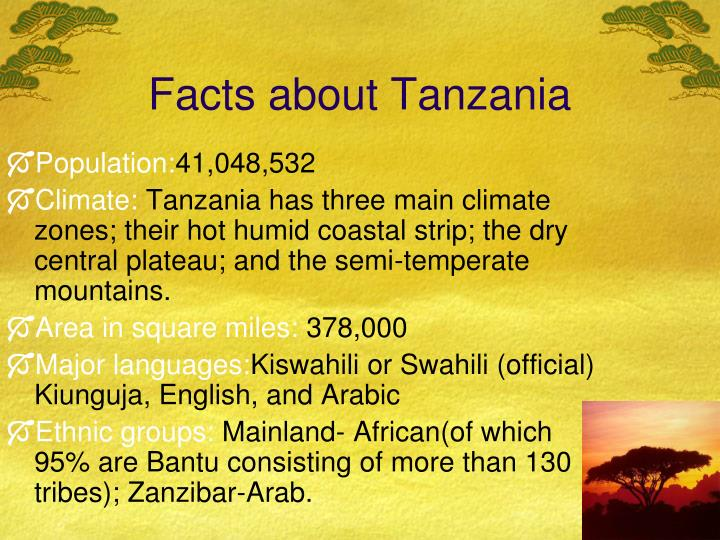 Facts about Tanzania