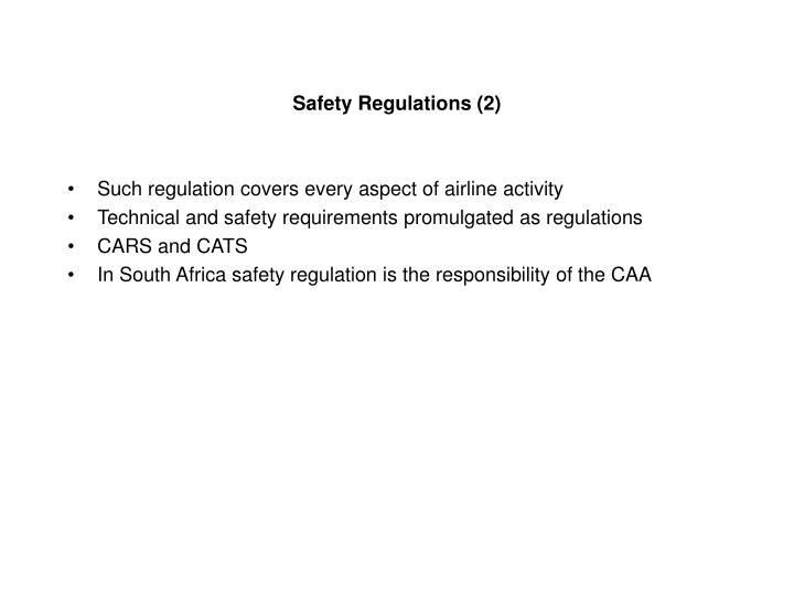 Safety Regulations (2)