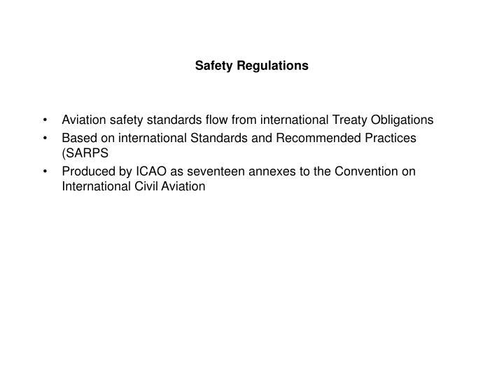 Safety Regulations