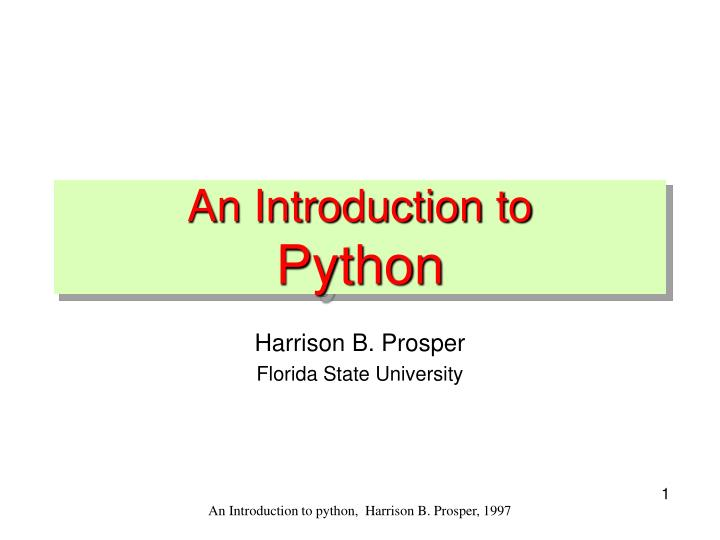 an introduction to python n.