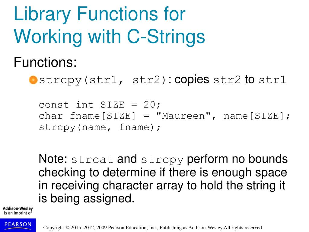 C functions with strings