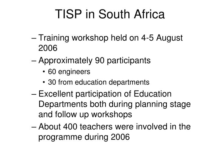 TISP in South Africa