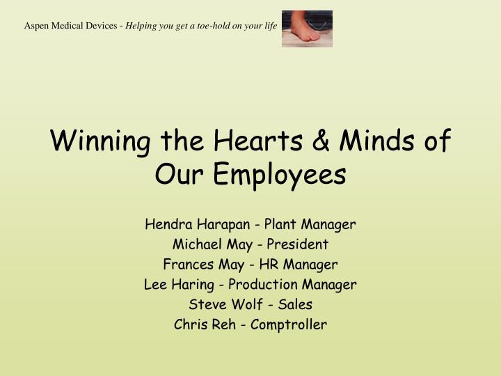 winning the hearts minds of our employees n.