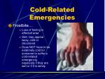 cold related emergencies1