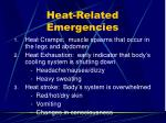 heat related emergencies