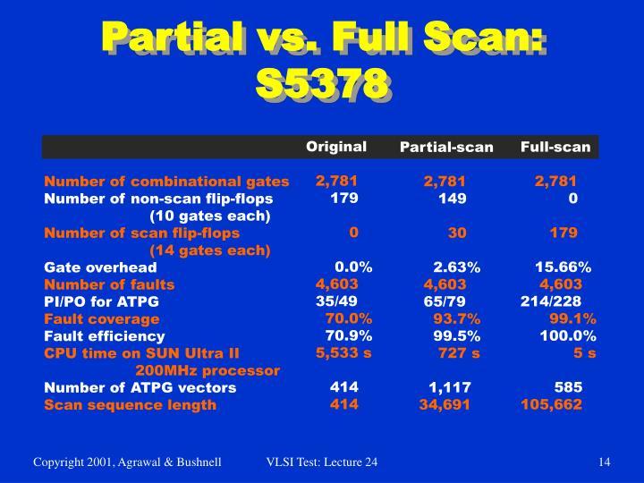 Partial vs. Full Scan: S5378