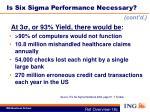 is six sigma performance necessary1