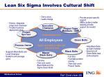 lean six sigma involves cultural shift