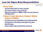 lean six sigma roles responsibilities5