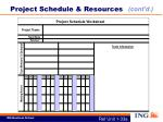 project schedule resources1