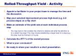 rolled throughput yield activity