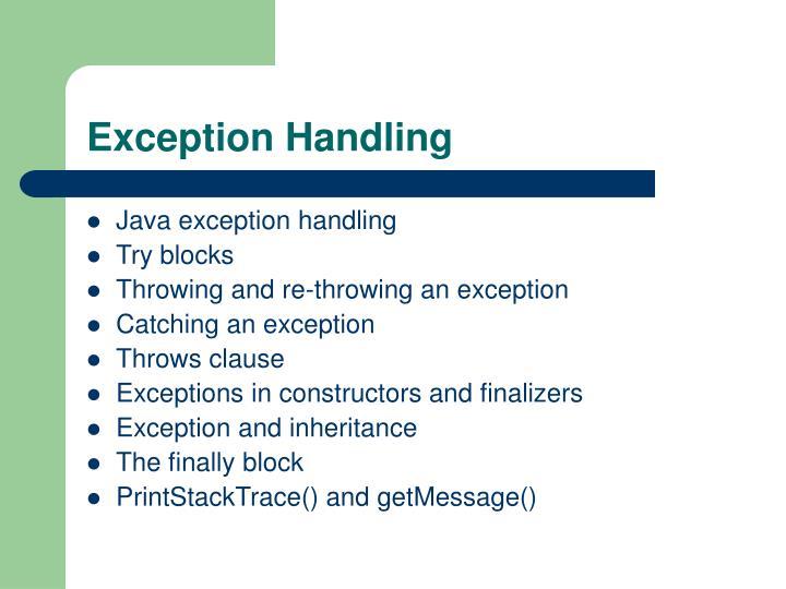 Exception handling1