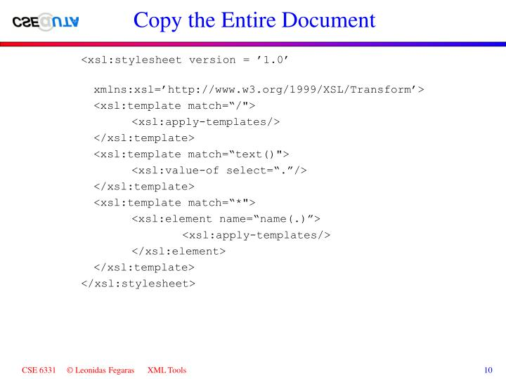 Copy the Entire Document