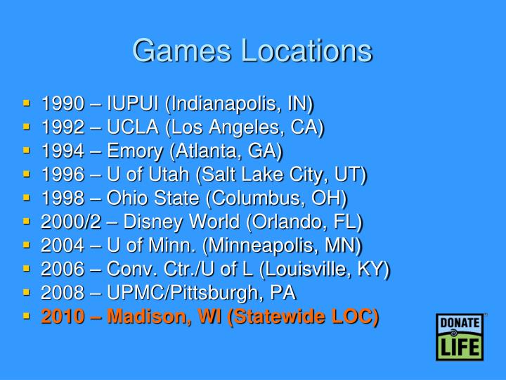Games Locations