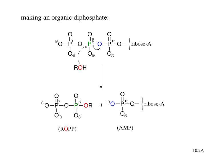 making an organic diphosphate: