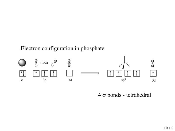 Electron configuration in phosphate