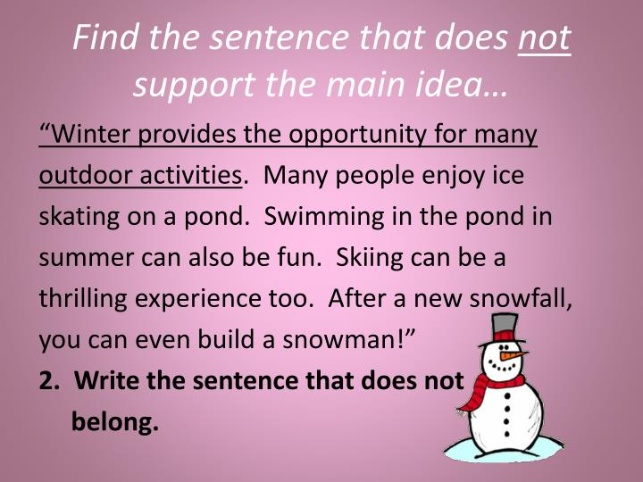 Find the sentence that does