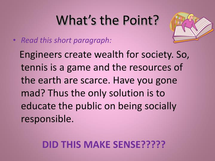 What s the point