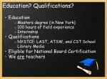 education qualifications