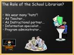 the role of the school librarian