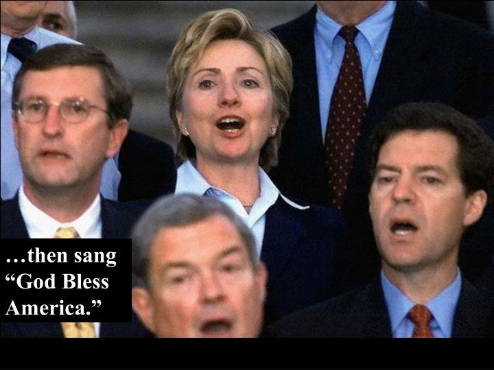"…then sang ""God Bless America."""