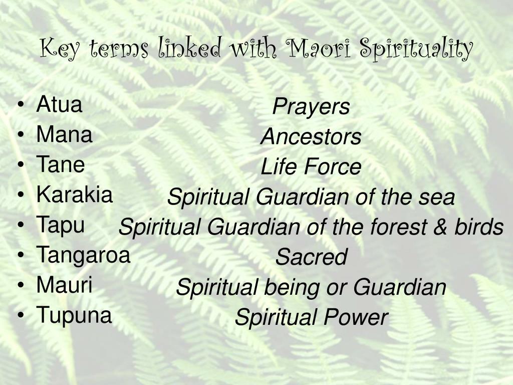 Maori Spirituality: Maori Spirituality PowerPoint Presentation