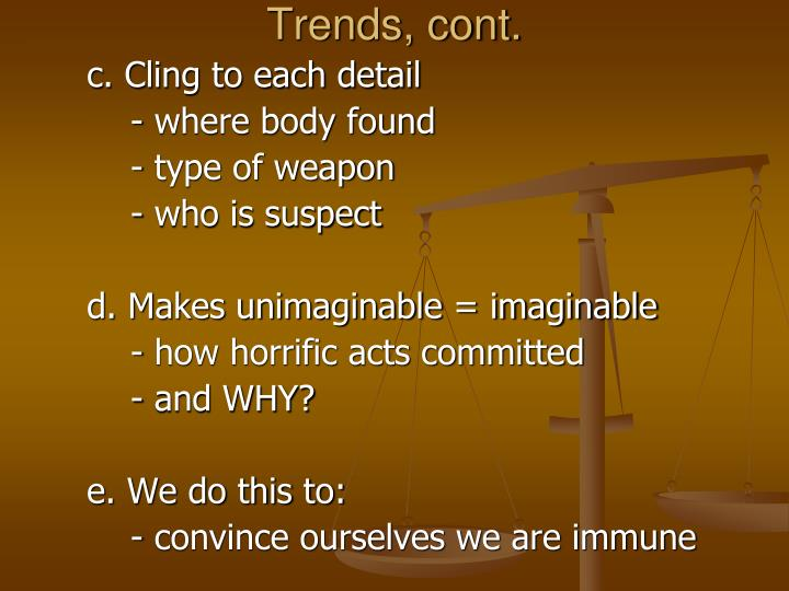 Trends cont
