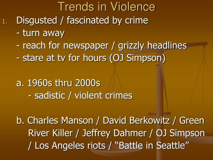 Trends in violence